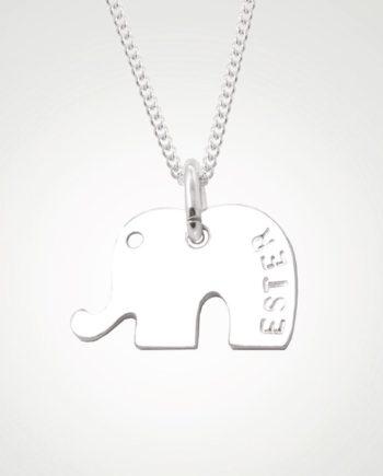 elefant namenskette mit namensgravur