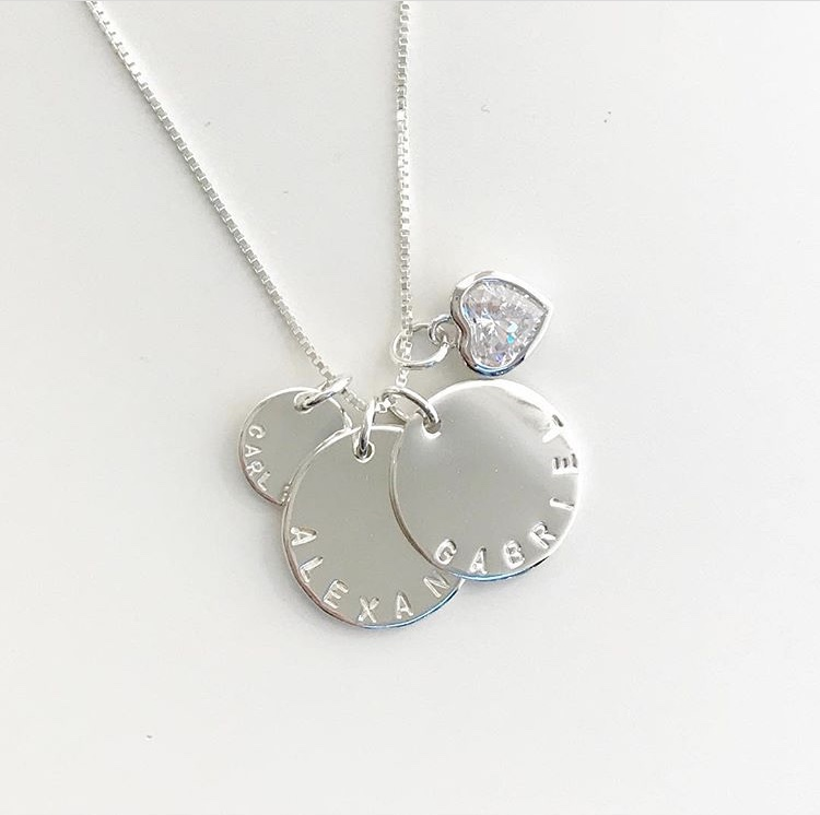 Coin name Necklace with Birthstone ab621eb64537a