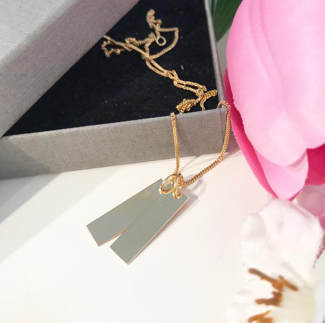 Namnbricka till halsband i 18K guld  9c6614041fc21
