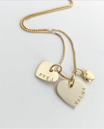 guldhjärta med namn 14K