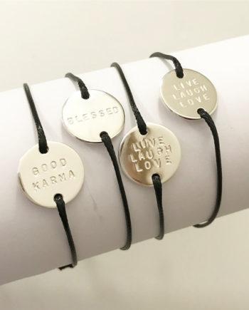 namnarmband coin med snodd