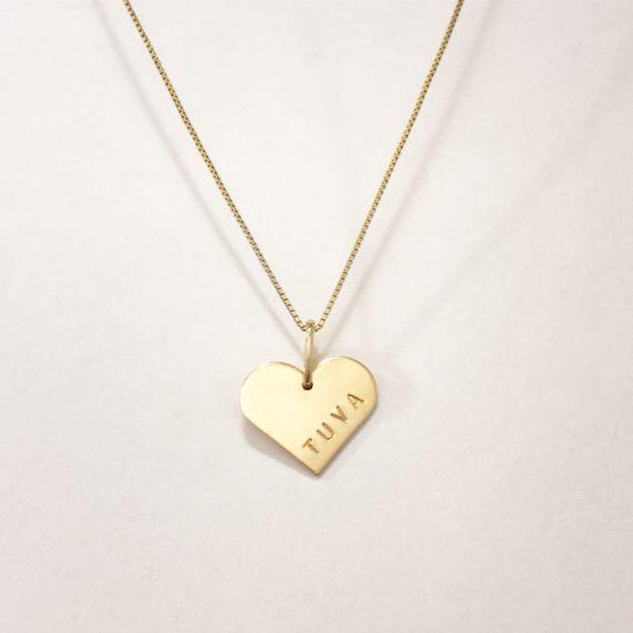 guldhjärta med namn