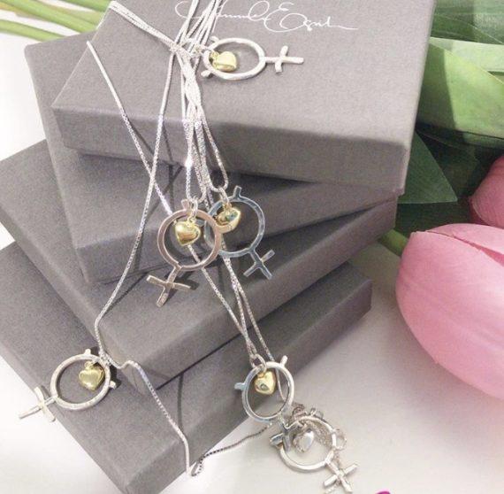 shedevil halsband silver