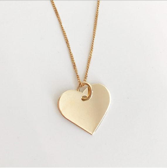 Guldhjärta 18K namnhalsband