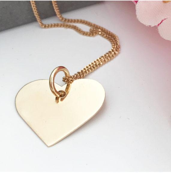 Guldhjärta med namn 18K namnhalsband