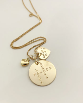gold crossword necklace